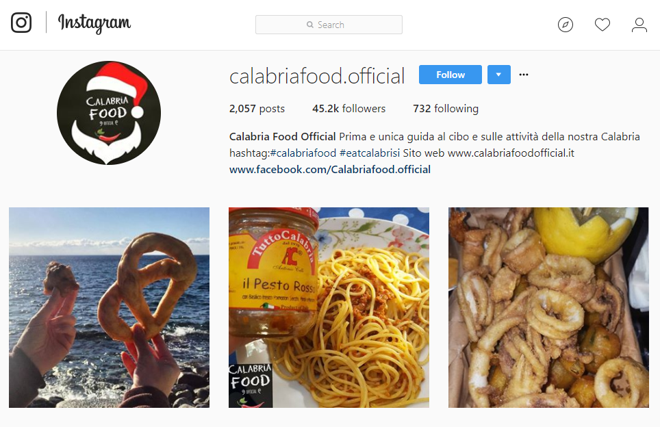 Instagram in Calabria: Calabria Food Official